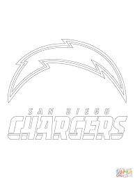 San Diego Chargers Logo Coloring Page