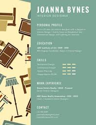 Green Interior Designer Infographic Resume Templates by Canva