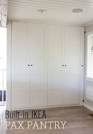 Pantry Cabinet Ikea Hack by Kitchen Chronicles Ikea Pax Pantry Reveal Ikea Pax Moldings