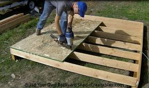 Floor Joist Span Table For Sheds by How To Build A Shed Storage Shed Building Instructions