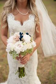 A Blush And Navy Weddinga Beautiful Boutique Stunning Dress To Match The Pearls Add Touch Of Class