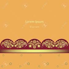The Background Orange Indian Motifs Design For