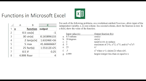 Excel Floor Ceiling Functions by Functions If Max Floor Fact Cos In Microsoft Excel Youtube