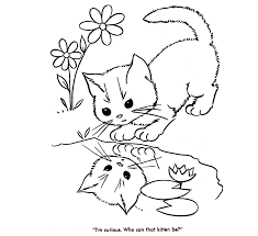 Image Detail For These Free Printable Coloring Pages Of Cats And Kittens Provide Hours