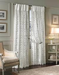 Damask White Inverted Pleat Window Curtains Large Luxury Living Room