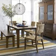 Crate And Barrel Dining Room Chairs by We Paired An Iron Framework With A Blackened Rustic Pine Top To