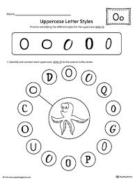 Uppercase Letter O Styles Worksheet