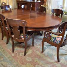 American Empire Oval Dining Table And Chairs