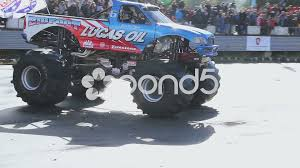 100 Monster Trucks Crashing Bigfoot Crashing Another Car Monster Truck Extreme Stunt Show