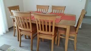 komplettes eßzimmer buche massiv