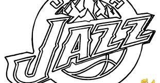 Nba Logos Coloring Pages Utah Jazz