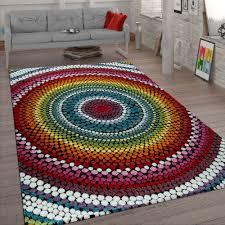 wohnzimmer teppich retro muster 3 d design boho
