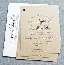 Monica Kraft Booklet Wedding Invitation Sample
