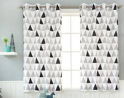 Geometric Pattern Grommet Curtains by Geometric Curtains Etsy
