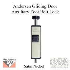 Andersen Patio Door Lock Instructions by Andersen Footbolt Installation