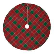 Tristan Cherry Red Traditional Christmas Decor Tree Skirt
