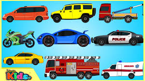 Learning Street Vehicles | Cars And Trucks For Kids | Videos For ...
