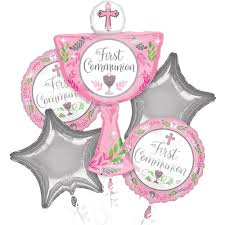 Girl's First Communion Balloon Bouquet 5pc