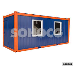 100 Shipping Container Model 20ft Portable Office 3D