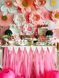 Pretty In Pink 1st Birthday Paper Flower Backdrop