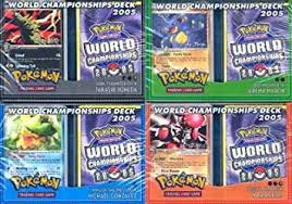 pokemon world chionship 2005 deck en amazon co uk toys