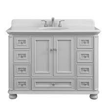 Scott Living Wrightsville Light Gray Single Sink Vanity With Terrazzo Engineered Stone Top Common