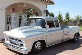 57 Chevy Pickup Truck. 1 Ton Extended Cab Dually With 454, Sitting ...