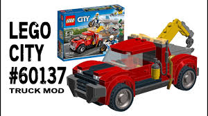 100 Lego City Tow Truck Building 2017 City 60137 Mod INSTRUCTIONS YouTube