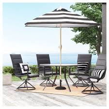 Avalon 5pc Sling & Steel Patio Dining Set - Project 62 ... Patio Chairs At Lowescom Outdoor Wicker Stacking Set Of 2 Best Selling Chair Lots Lloyd Big Cushions Slipcove Fniture Sling Swivel Decoration Comfortable Small Space Sets For Tiny Spaces Unique Cana Qdf Ding Agio Majorca Rocker With Inserted Woven Alinium Orlando Charleston Myrtle White Table And Seven Piece Monterey 3 0133354 Spring China New Design Textile