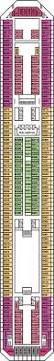 Carnival Conquest Deck Plans by Carnival Triumph Upper Deck Deck Plan Carnival Triumph Deck 6