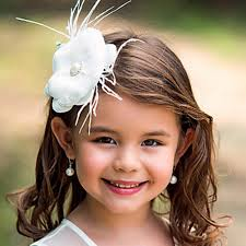 beautiful flower girls head pieces white flowers floral beaded