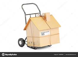 100 Moving Hand Truck Household Moving Services Concept Truck With Cardboard Hou