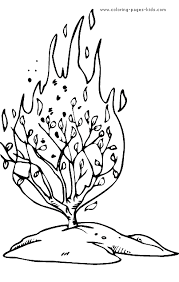 Burning Bush Coloring Picture