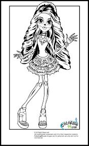 Monster High Scaris Skelita Calaveras Coloring Pages