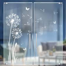 löwenzahn glasdekor glastür sandstrahloptik aufkleber etsy