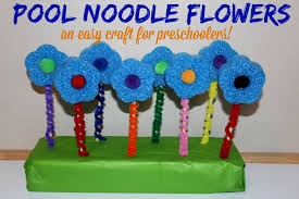 Pool Noodle Flowers Craft