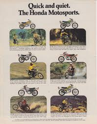1973 Dual Sports from Honda and Kawasaki ads