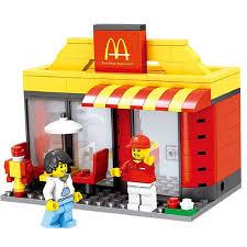 cuisine mcdonald jouet bloc de construction jouet mini rue magasin de modèles compatible