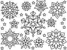Embroidery Snowflake Ideas Copos De Nieve