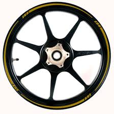 Amazon.com: GOLD Wheel Rim Tape SPEED TAPERED Stripe Fit ALL Makes ...