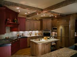 alder cabinets kitchen traditional with beams kitchen island track
