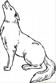 Coyote Clip Art Black And White