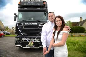 100 Scania Truck Lovedup Truck Enthusiasts Arrive At Wedding In Huge Lorry