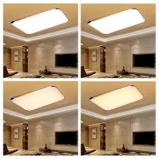 modern bedroom square led ceiling light 40w living room rc