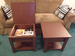 Make Outdoor End Table by Ana White Storage End Tables Diy Projects