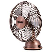 holmes metal desk fan usb connected small bronze hnf0466 ct