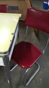 100 Red Formica Table And Chairs Grossman Online Store Vintage Retro Chrome And