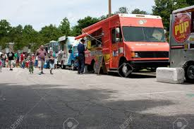 100 Food Trucks In Atlanta GA USA May 25 2012 Patrons Buy From Stock