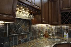 Kitchen Backsplash Ideas With Dark Oak Cabinets by Kitchen Stone Backsplash Ideas With Dark Cabinets Subway Tile