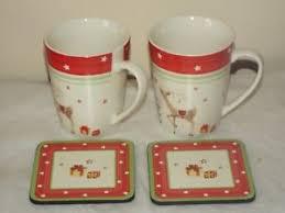 Spode Christmas Tree Mug And Coaster Set by 2 X Spode Christmas Tree Jubilee 14 Oz Conical Mugs U0026 2 Coasters
